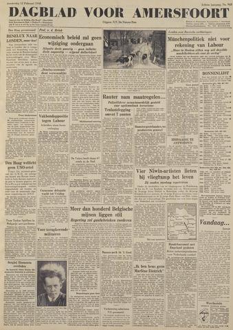 Dagblad voor Amersfoort 1948-02-12