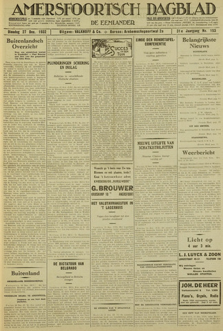 Amersfoortsch Dagblad / De Eemlander 1932-12-27
