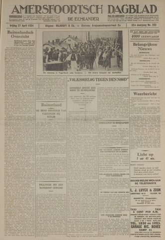 Amersfoortsch Dagblad / De Eemlander 1934-04-27