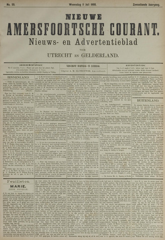 Nieuwe Amersfoortsche Courant 1888-07-11