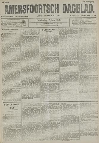 Amersfoortsch Dagblad / De Eemlander 1915-06-17