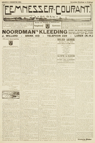 Eemnesser Courant 1924-08-08