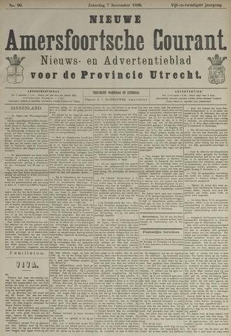 Nieuwe Amersfoortsche Courant 1896-11-07