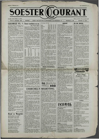 Soester Courant 1952-02-08