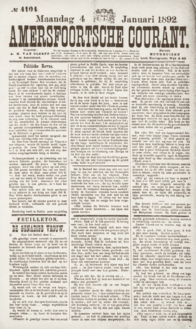 Amersfoortsche Courant 1892