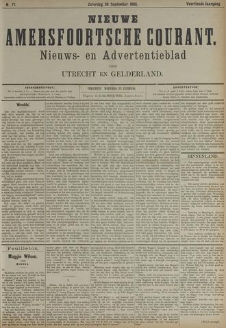 Nieuwe Amersfoortsche Courant 1885-09-26