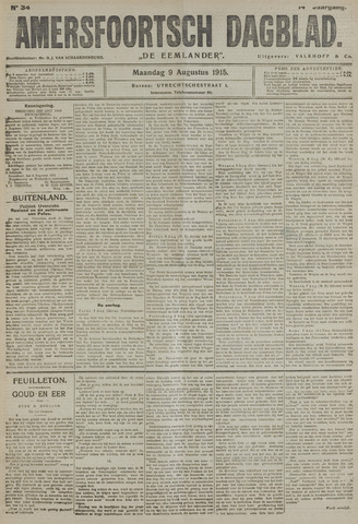 Amersfoortsch Dagblad / De Eemlander 1915-08-09