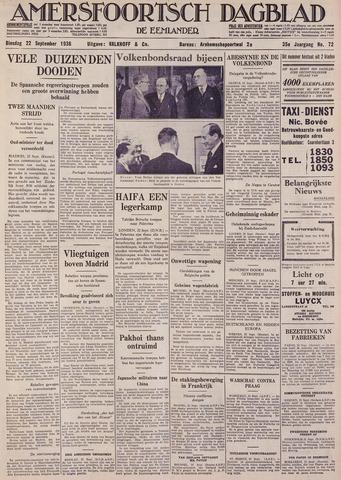 Amersfoortsch Dagblad / De Eemlander 1936-09-22
