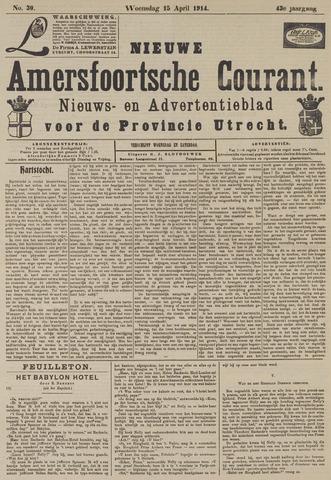Nieuwe Amersfoortsche Courant 1914-04-15