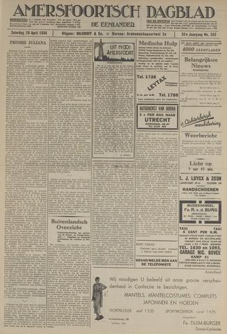 Amersfoortsch Dagblad / De Eemlander 1934-04-28