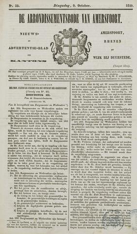 Arrondissementsbode van Amersfoort 1849-10-09