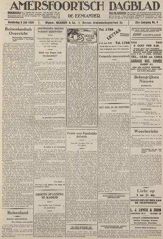 Amersfoortsch Dagblad / De Eemlander 1934-07-05