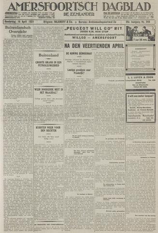 Amersfoortsch Dagblad / De Eemlander 1931-04-16