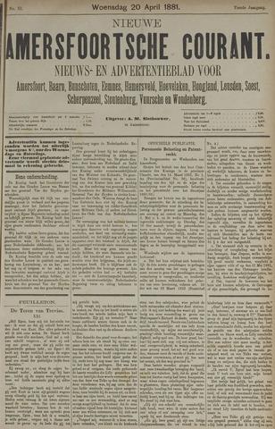Nieuwe Amersfoortsche Courant 1881-04-20