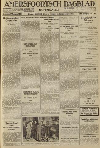 Amersfoortsch Dagblad / De Eemlander 1932-08-17