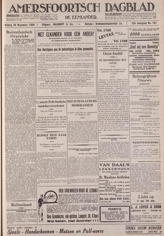 Amersfoortsch Dagblad / De Eemlander 1934-11-30