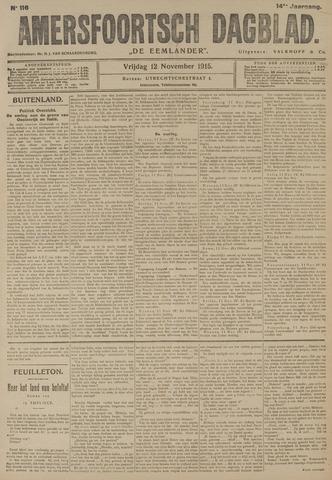 Amersfoortsch Dagblad / De Eemlander 1915-11-12