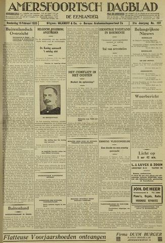 Amersfoortsch Dagblad / De Eemlander 1933-02-16