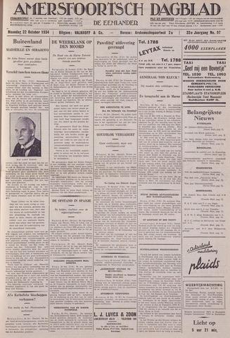 Amersfoortsch Dagblad / De Eemlander 1934-10-22