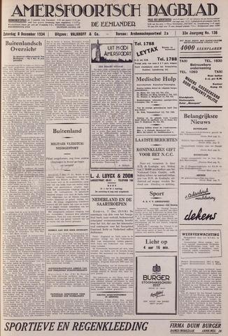 Amersfoortsch Dagblad / De Eemlander 1934-12-08