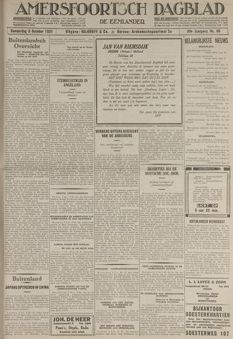 Amersfoortsch Dagblad / De Eemlander 1931-10-08