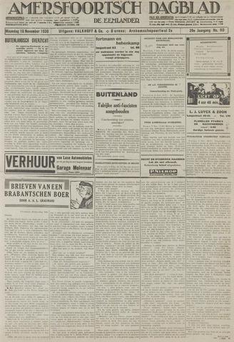 Amersfoortsch Dagblad / De Eemlander 1930-11-10