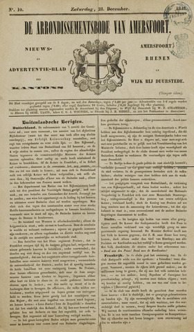 Arrondissementsbode van Amersfoort 1848-12-23