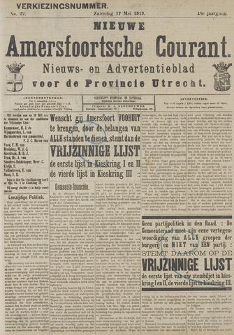 Nieuwe Amersfoortsche Courant 1919-05-17