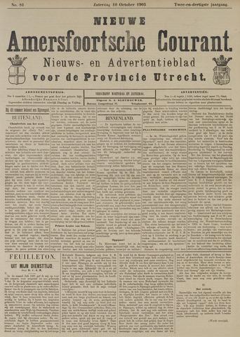 Nieuwe Amersfoortsche Courant 1903-10-10