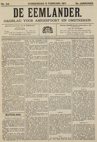 De Eemlander 1911-02-09