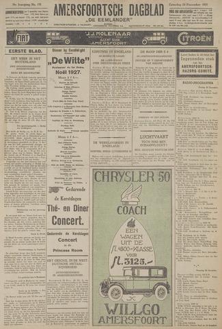 Amersfoortsch Dagblad / De Eemlander 1927-12-24