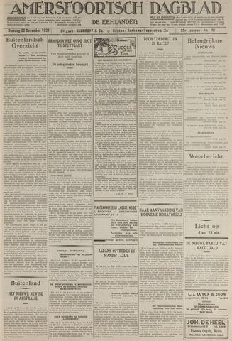 Amersfoortsch Dagblad / De Eemlander 1931-12-22