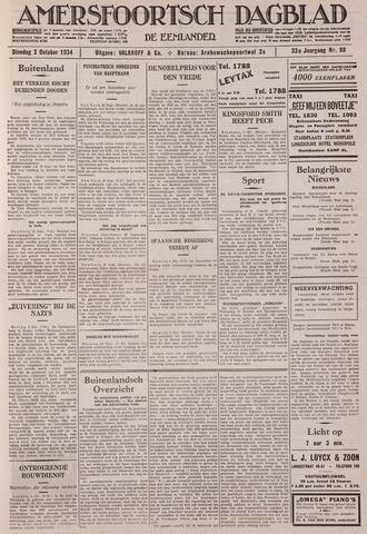 Amersfoortsch Dagblad / De Eemlander 1934-10-02