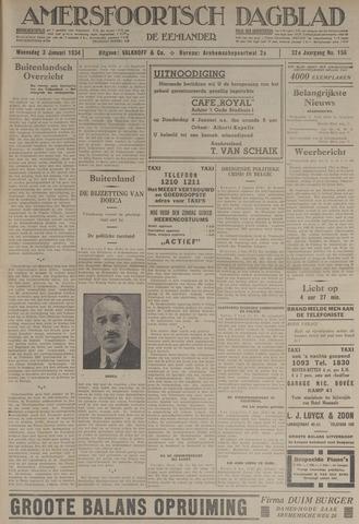 Amersfoortsch Dagblad / De Eemlander 1934-01-03