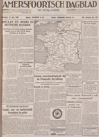 Amersfoortsch Dagblad / De Eemlander 1940-06-12