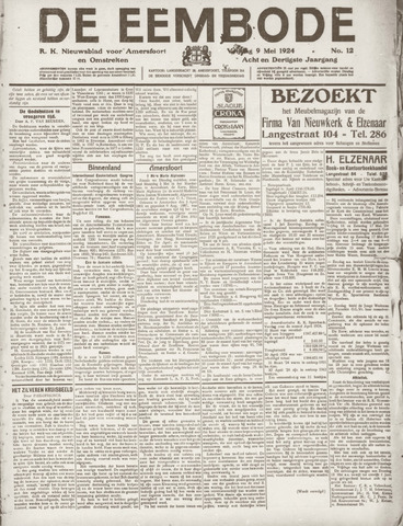 De Eembode 1924-05-09