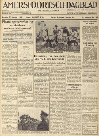 Amersfoortsch Dagblad / De Eemlander 1940-11-27