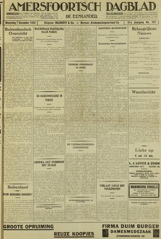 Amersfoortsch Dagblad / De Eemlander 1932-12-07