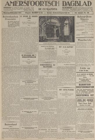 Amersfoortsch Dagblad / De Eemlander 1931-12-30