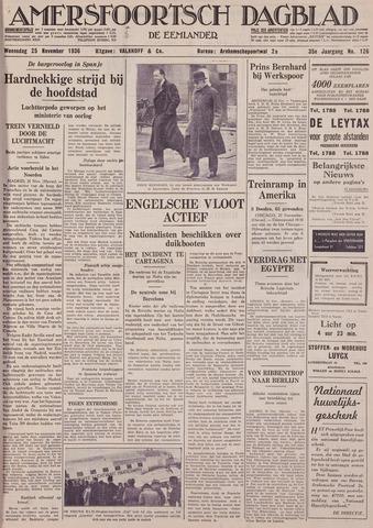 Amersfoortsch Dagblad / De Eemlander 1936-11-25