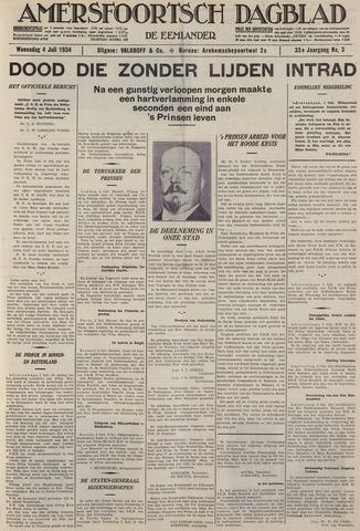 Amersfoortsch Dagblad / De Eemlander 1934-07-04