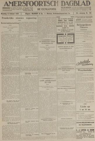 Amersfoortsch Dagblad / De Eemlander 1934-02-12