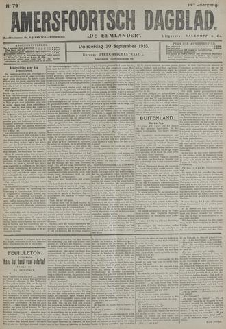 Amersfoortsch Dagblad / De Eemlander 1915-09-30