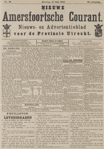 Nieuwe Amersfoortsche Courant 1916-06-17