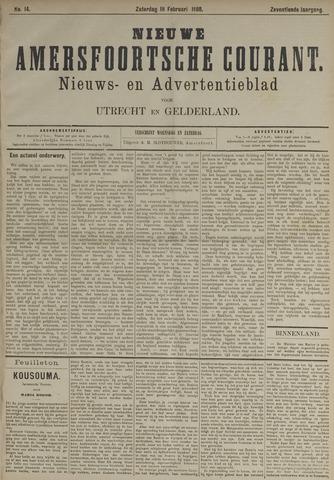 Nieuwe Amersfoortsche Courant 1888-02-18