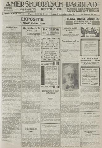 Amersfoortsch Dagblad / De Eemlander 1931-03-21