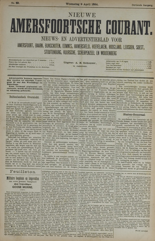 Nieuwe Amersfoortsche Courant 1884-04-09