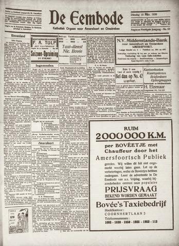 De Eembode 1936-02-18