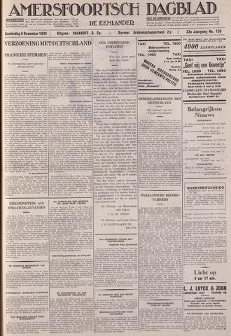 Amersfoortsch Dagblad / De Eemlander 1934-12-06