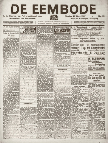De Eembode 1927-12-27